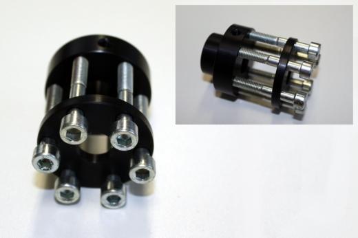 Propeller motor shaft adapter